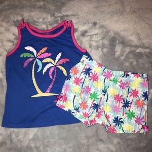 Toddler girl tank and shorts